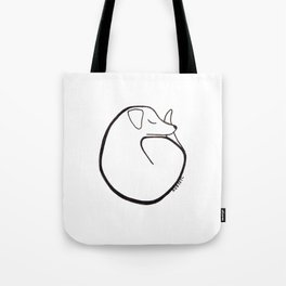 curly dog Tote Bag