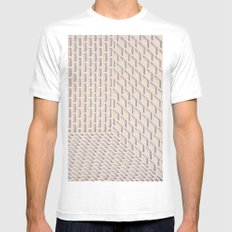 Boxes White Mens Fitted Tee MEDIUM