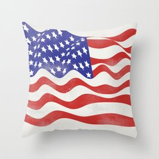 United States Flag - USA Throw Pillow
