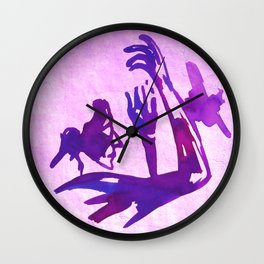 Blue prayer Wall Clock