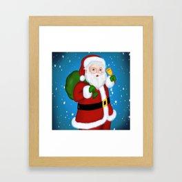Santa Claus - Meera Mary Thomas Design Framed Art Print