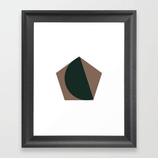 #302 Pretty fitting – Geometry Daily Framed Art Print