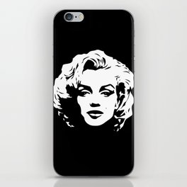 Marilyn - Black and White - Monroe - Pop Art iPhone Skin