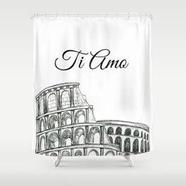 Roman Colosseum Print Shower Curtain