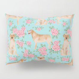 Yellow Labrador Retriever dog breed pet portraits floral dog pattern gifts for dog lover Pillow Sham