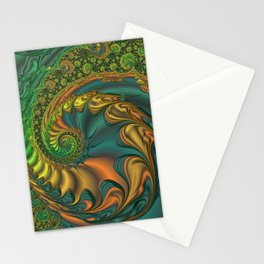 Dragon's Lair - Fractal Art Stationery Cards