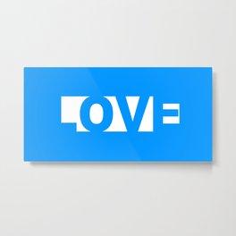 Blue LOVE Metal Print