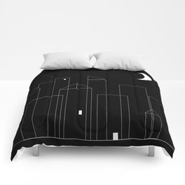 Nightowls (Ghost Town) - Line Art Drawing Comforters