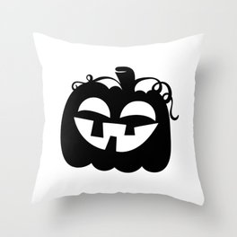 Halloween Jack O Lantern Face Pumpkin Black 3 Throw Pillow