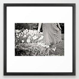 Garden Stroll Framed Art Print