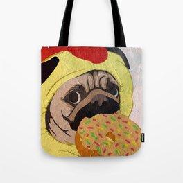 Pug -Dog- chicken Tote Bag