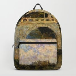 French Impressionistic Arched Bridge Backpack