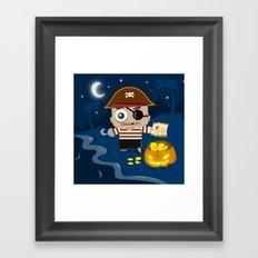 hAARRlloween! Framed Art Print