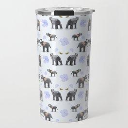 Elephants and Flowers Travel Mug