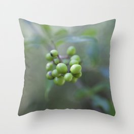 Green Burgeon Throw Pillow