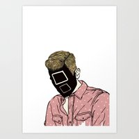 Blond Square Art Print
