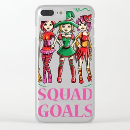 Squad goals witches wikkan Halloween party night Clear iPhone Case