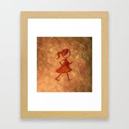 Flipt Pictures Girl Cave Painting Framed Art Print