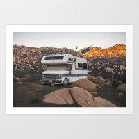 Caravan in the mountains Art Print
