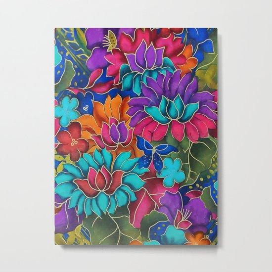 Colorful floral fantasy Metal Print