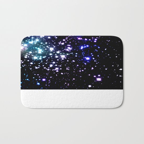 galaXy Aqua Blue Gray Bath Mat