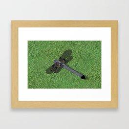 Mechanical Dragonfly Framed Art Print