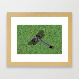 Mechanical Dragonfly Framed Art Print