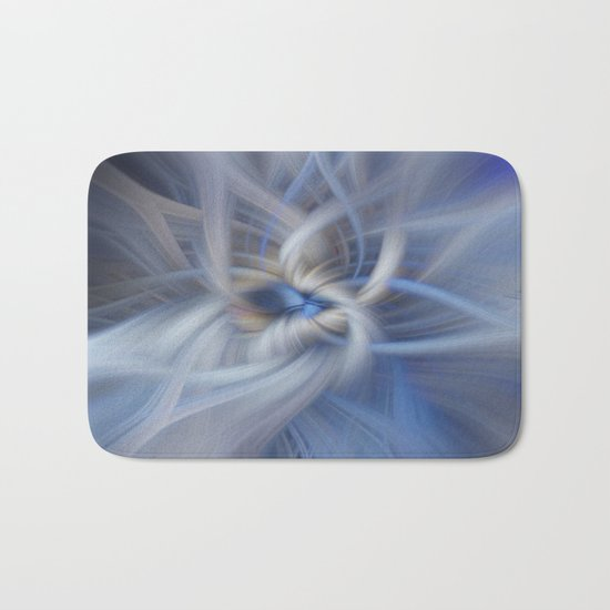 Abstract in blues Bath Mat