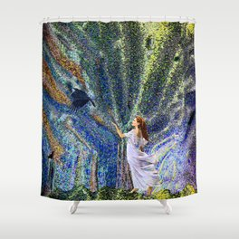 Vernal Equinox - Mystic Night Shower Curtain