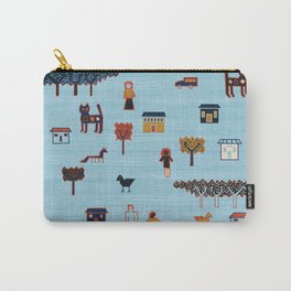 Citta in Blue Carry-All Pouch