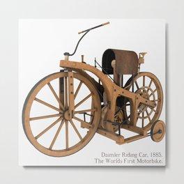 Daimler Riding Car, 1885. Metal Print