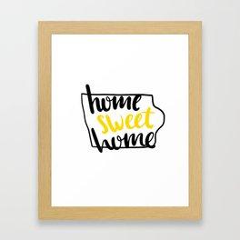 Home Sweet Home Iowa Framed Art Print