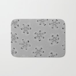 Grey Emily Rose Bath Mat
