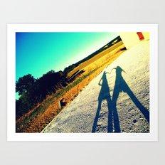 Shadow Love Art Print