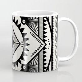 Western tribal square mandala 2- black on neutral Coffee Mug