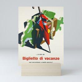 cartello biglietto di vacanze cff sbb Mini Art Print