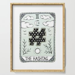 The Hashtag Serving Tray