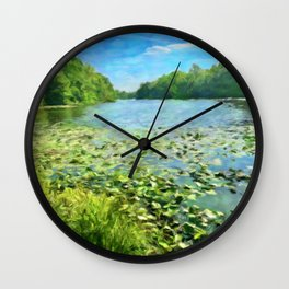 The Lily Pad Pond Wall Clock