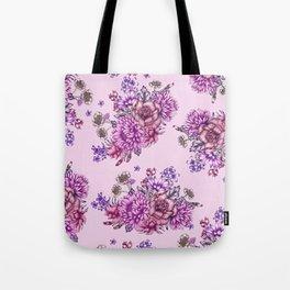 Pink Vintage Florals Tote Bag