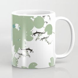 Blue and green lilypad Coffee Mug