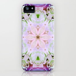 modern floral mandala iPhone Case