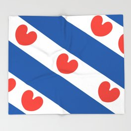 Flag of Friesland Throw Blanket