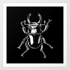 long toothed stag beetle Art Print