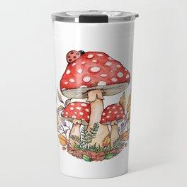 Watercolor Mushrooms Travel Mug
