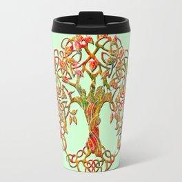 Tree of Life Orange Travel Mug