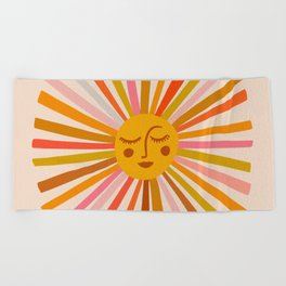 Sunshine – Retro Ochre Palette Beach Towel