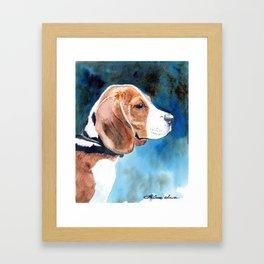 Bonny Beagle Framed Art Print
