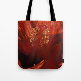 Blaze Orange Hibiscus Flower Tote Bag
