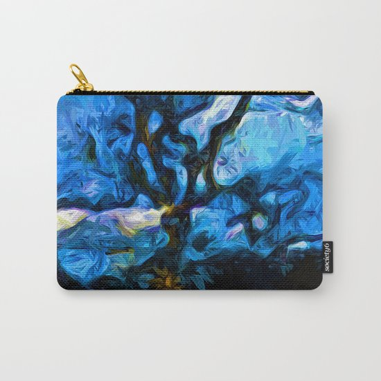 Tree Fights the Wind and Blue Sky Carry-All Pouch