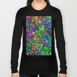 Abstract Topographic Spectrum Long Sleeve T-shirt